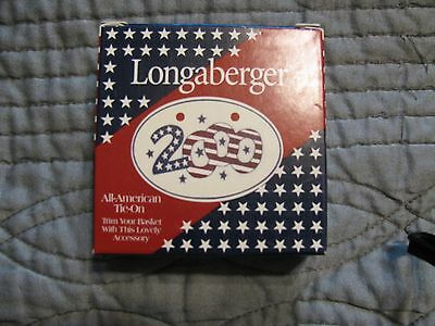 Longaberger tie on 2000 Red white and blue