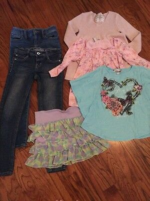Girls Size 7/8 Medium Lot Of Clothes Jeans Old Navy