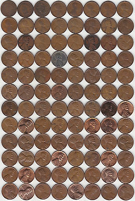 219 Different USA 1c Coins - 1906 to 2014D