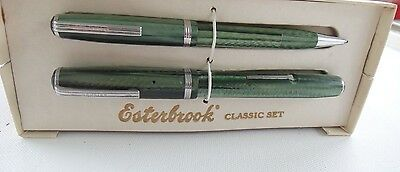 Boxed Green Esterbrook Set- J Fountain Pen and Propelling Mechanical Pencil
