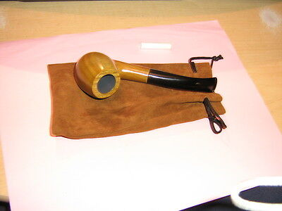 Nice New Sandal Wood 9 Mm Tobacco Pipe And Pouch