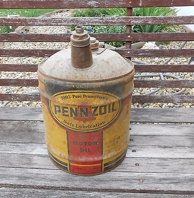 Vintage Pennzoil 5 Gallon  Motor Oil Can
