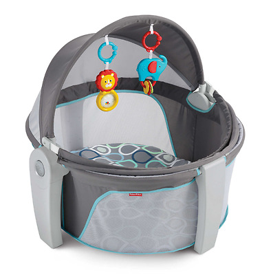 Bubbles Secure Ultra Comfortable Pad Canopy Removable Toys On-The-Go Baby Dome