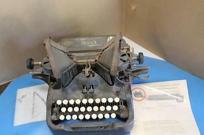 Antique Oliver Standard Visible Typewriter No. 9 WITH RARE 1921 COMPANY LETTER