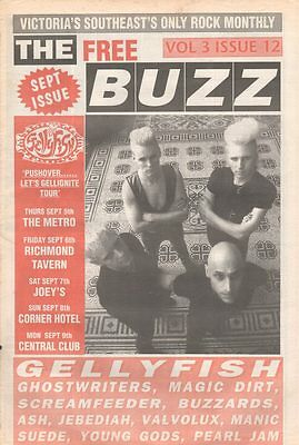 THE BUZZ Magazine GELLYFISH Sep 2002 Vol 3 Issue 12 GHOSTWRITERS MAGIC DIRT ASH