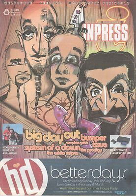 INPRESS Oz Magazine SYSTEM OF A DOWN BIG DAY OUT 2005 Jan #696 WHITE STRIPES