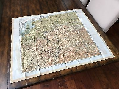 WWII D DAY SILK ESCAPE MAP PACK 1943 EUROPE C / E France Holland Germany MINT