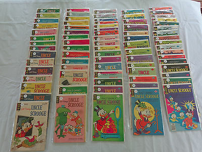 Uncle Scrooge Comic Lot/Collection. Aug.1963 - April 1982. 91 Issues. Free Ship!