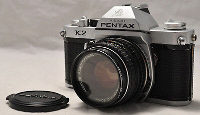 Asahi Pentax K2 SLR 35mm Film Camera 50mm f2 Lens