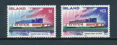 Iceland 454-5 MNH, Nordic House, 1973
