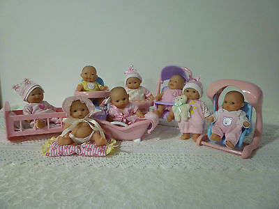 Berenguer Baby Dolls Mini Nursery x 8 and Accessories