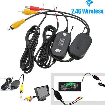 2.4G Wireless Video Transmitter & Receiver for Car Backup Camera Monitor S16K DT