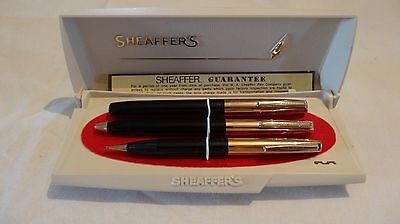 Sheaffer Rare Vintage Set Of Fountain, Ballpoint & Pencil In Box - Nos