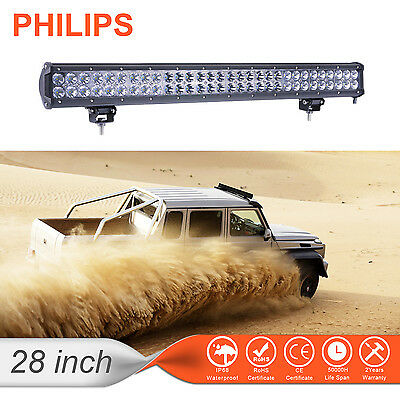 28inch 300W PHILIPS LED Spot Flood Combo 4WD Work Light Bar Offroad UTE Lamp US