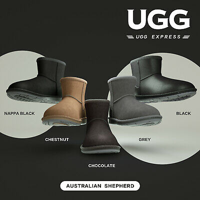 Ugg Boots Men Women Mini Classic Sheepskin Ankle Boot Black Brown Size 35-44 EU