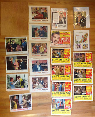 MARIO LANZA Ads + Window Cards Because You're Mine Seranade Student Prince Rome