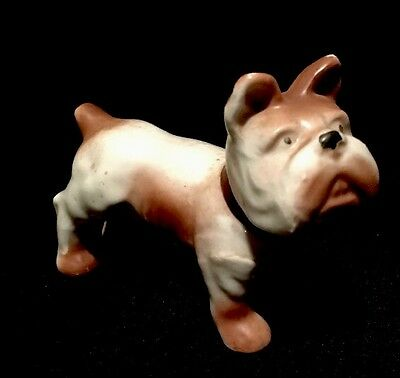 "Vintage 3"" China Bulldog Dog Figurine Made in Occupied Japan"