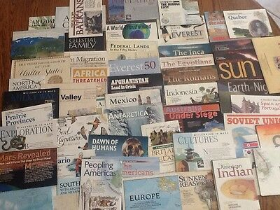 Lot Of 55 National Geographic Supplements Inserts Maps  90s Early 2000's
