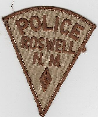 vintage Roswell, New Mexico Police Dept patch  NM  uniform take-off / old style