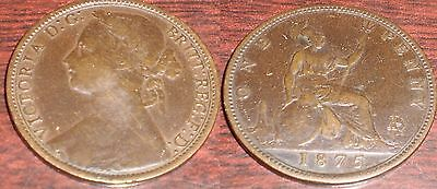 1875 Great Britain Large Date Penny