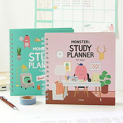 Indigo For 1 Year Monster's Study Planner semester diary planners Exam Note NEW
