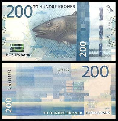 Norway 200 Kroner, 2016(2017), P-NEW, UNC