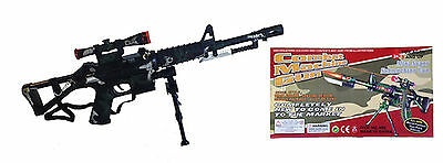 Toy Combat Army Commando Machine Gun With Lights and Sounds
