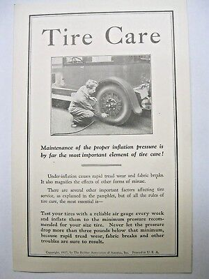 Tire Care by The Rubber Association of America Inc.