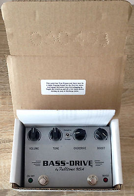 FULLTONE Bass Drive Booster and Overdrive Bass / Guitar Pedal Grey Box