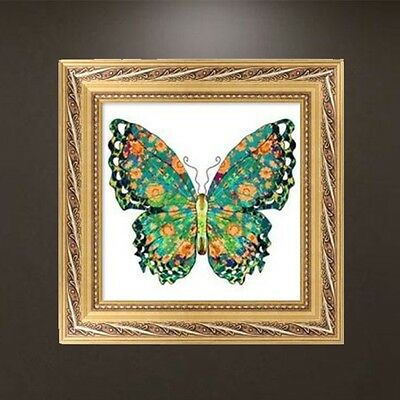 DIY 5D Diamond Embroidery Green Butterfly Painting Cross Stitch Craft Home Decor