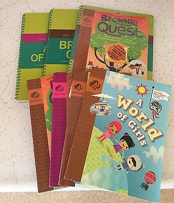Girl Scouts Brownie Quest Elementary Middle Home School Books Guides NEW