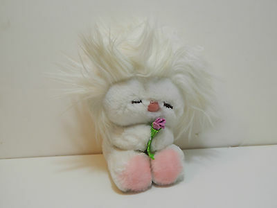 1982 DAKIN Frou Frou Plush Toy - White Hair / Rose Variation w. Tags Intact