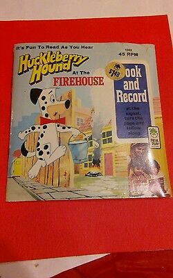 Huckleberry Hound at the Firehouse Book & Record 1962 rare find still sealed.