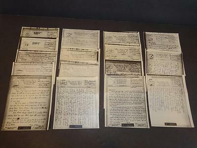 Usa Wwii Original V-Mail Censor Checked Letters