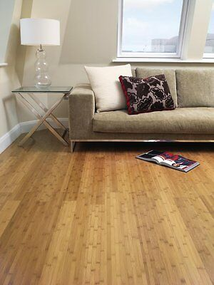 Trade Choice Solid Natural Bamboo 14mm x 96mm Stranded Woven Wood Flooring