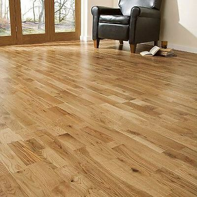Trade Choice Solid Natural Fingerjointed Oak 90mm x 18mm Lacquered Wood Flooring
