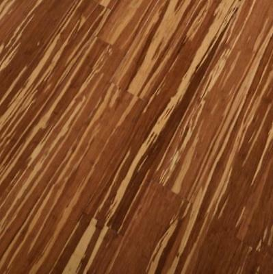 Trade Choice Solid 14mm x 142mm Tiger Wood Woven Bamboo Lacquered Wood Flooring