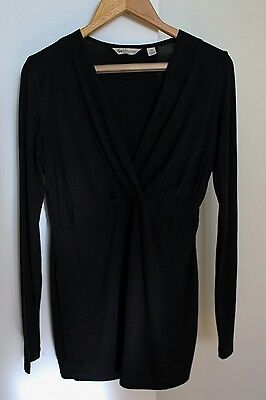 Ripe Maternity Black Long Sleeve Maternity Nursing Top - XS **Excellent cond.**