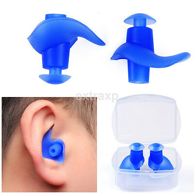 1 pair Waterproof Swimming Earplugs Silicone Swim Ear Plug For Children Adults