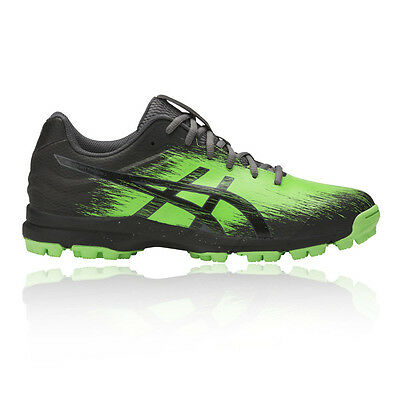 Asics Gel-Hockey Typhoon 3 Mens Green Black Sports Shoes Trainers Pumps