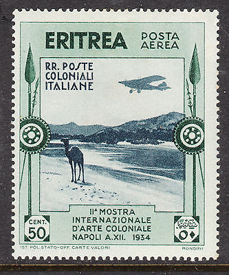 ERITREA  1934 50c AIR Mint Light Hinged