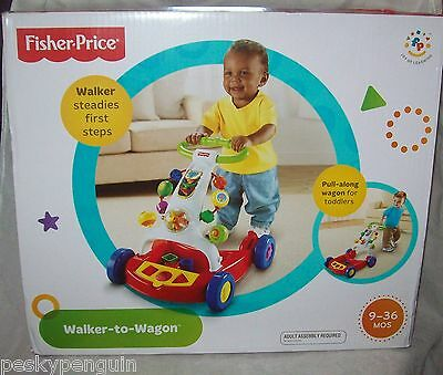 Fisher Price - Walker to Wagon toy - in box - PU Greensborough area