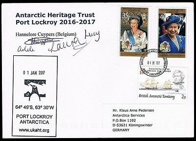 British Antarctic Territory • 2017 • Cover signed by all 4 team members