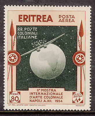 ERITREA  1934 80c AIR Mint  Light Hinged