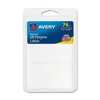 Avery All-Purpose Labels, 1.5 x 2.75 Inches, White, 76 Labels (6117)
