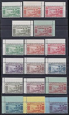 NEW HEBRIDES -FRENCH 1938 Pictorial set + Postage Due set MNH ** RARE!