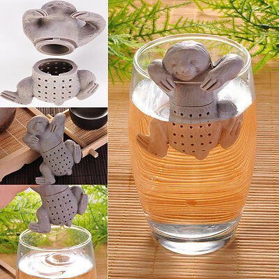 Sloth Shaped Loose Tea Leaf Infuser Heat Resistant Silicone Animal Cup Brewer