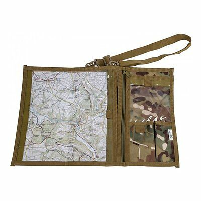 HMTC CAMO WATERPROOF MAP CASE military hiking pouch bag reading explorer