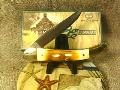 "Lot of 2 Toothpick Knives 3"" & Large 4"" Burnt Bone Scales Brass Pins & Liners"