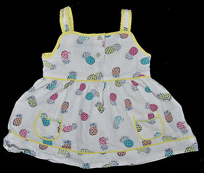 M&s Baby Girl Summer Top Blouse Age 18-24 Months Cotton Holiday